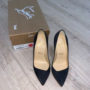Christian Louboutin dark grey heels